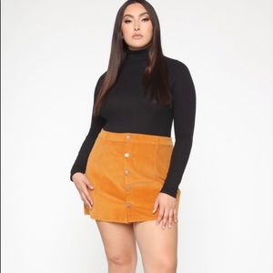 BEAUTIFUL Orange Corduroy Mini Skirt!!